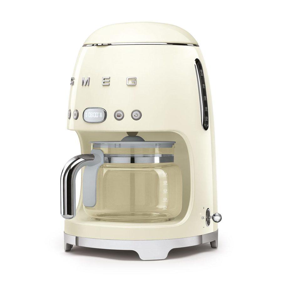 Smeg DCF02CRUK Freestanding Retro Drip Filter Coffee Machine in Cream