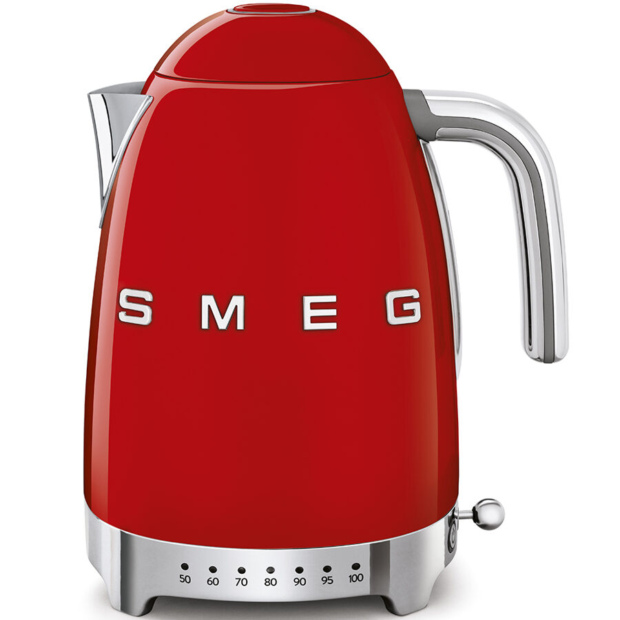 Smeg KLF04RDUK Red Retro variable temperature Jug Kettle