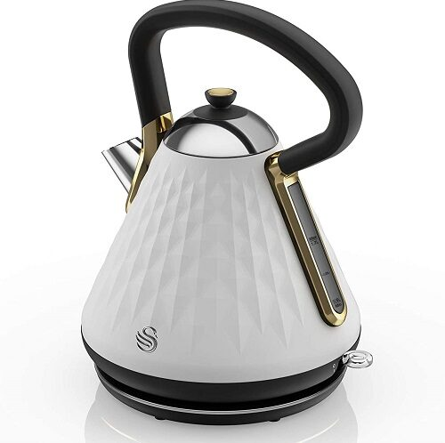Swan SK14080WHTN Gatsby kettle in white