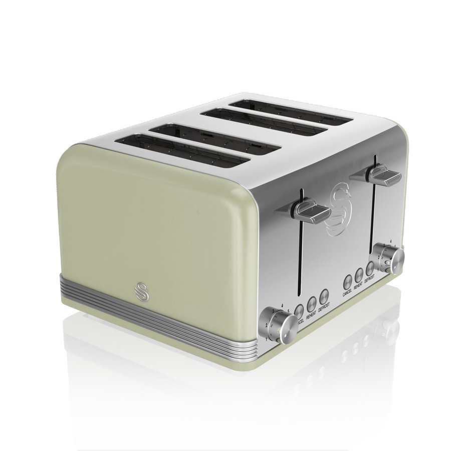 Swan ST19020GN Green retro 4 slice toaster