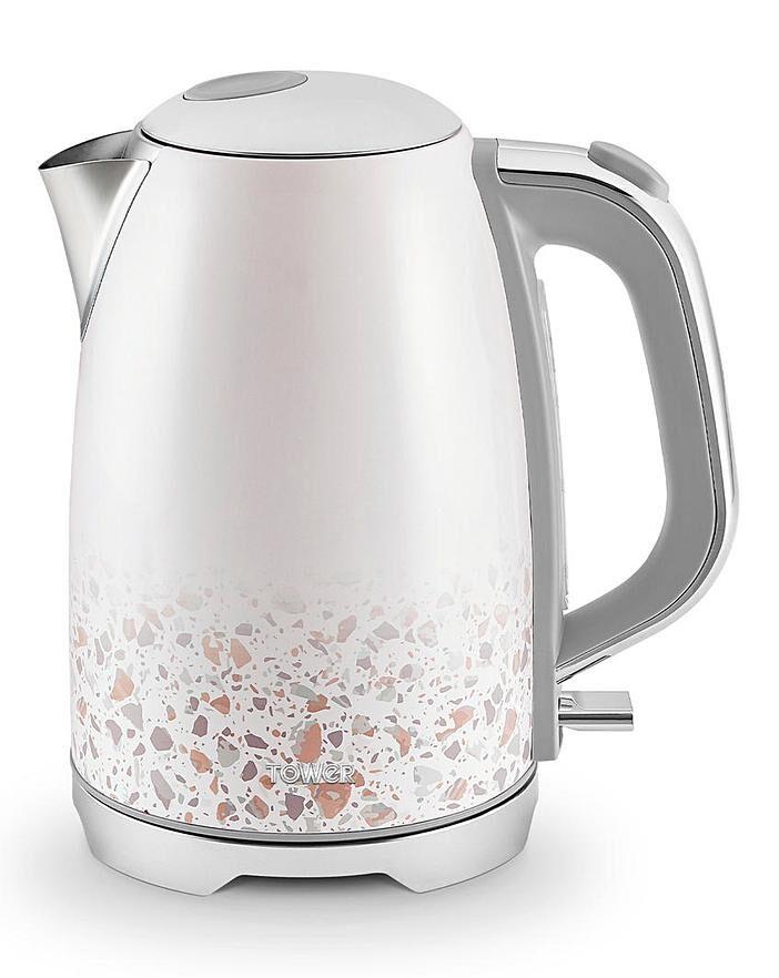 Tower T10065TAN Terrazzo 1.7 litre Rapid boil kettle