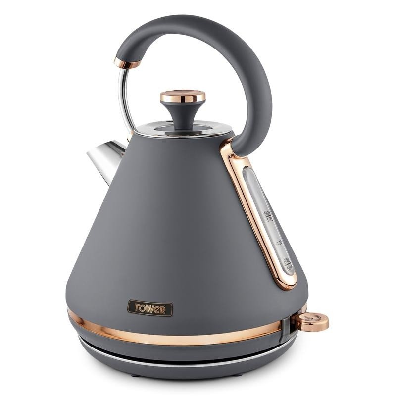 Tower T10044RGG Cavaletto 1.7 L Pyramid Kettle Grey & Rose Gold