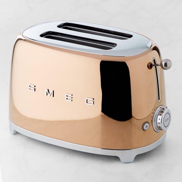 Smeg TSF01RGUK Rose Gold 2 Slice toaster