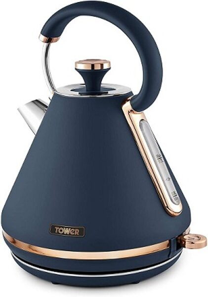 Tower T10044MNB Cavaletto Midnight Blue and Rose Gold Kettle