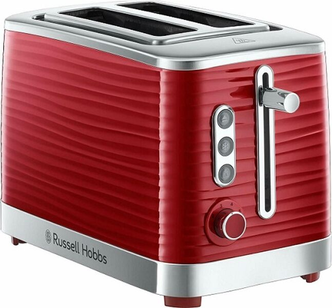 Russell Hobbs Inspire 2 Slice Toaster in red